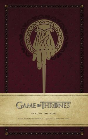 Блокнот Game of Thrones: Hand of the King Journal - Ruled (Hardcover)