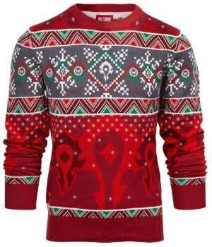 Свитер World of Warcraft Ugly Holiday Horde Sweater (размер XL)