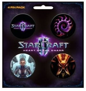 Набор Значков StarCraft II Heart of the Swarm Pin Pack