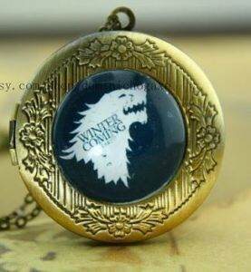 Медальон Game of Thrones Stark Wolf #2 (White)